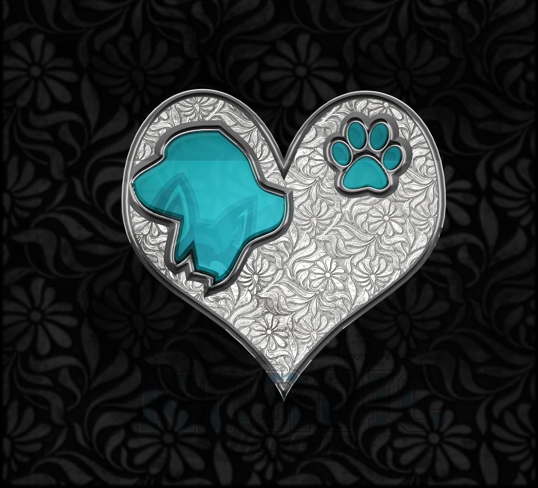 Basset Hound Crystal Heart