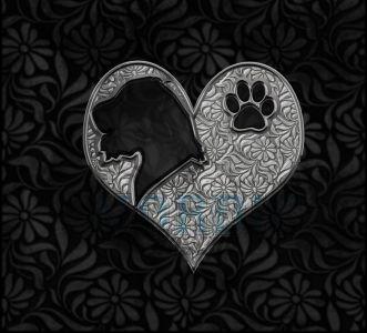 Irish Wolf-hound Crystal Heart